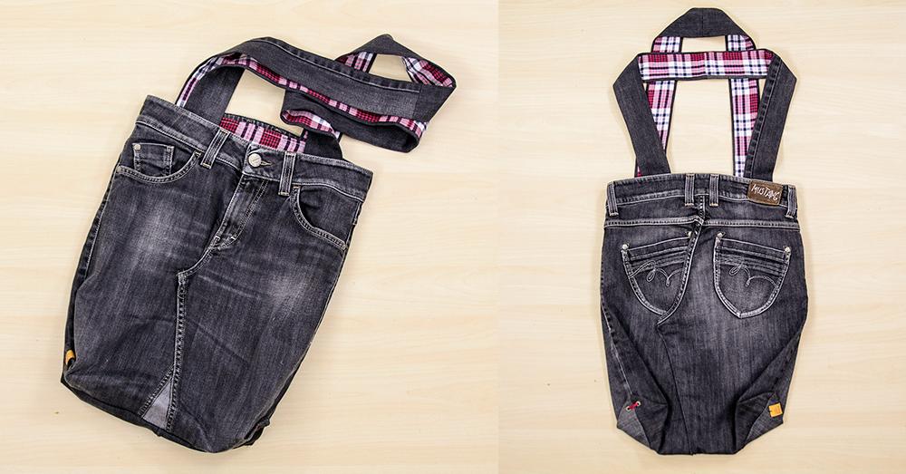 DIY: Torba ze starych jeansów i koszuli Jan Leśniak